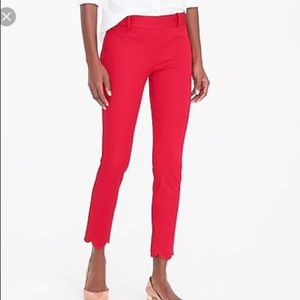 J. Crew Red Winnie Pants